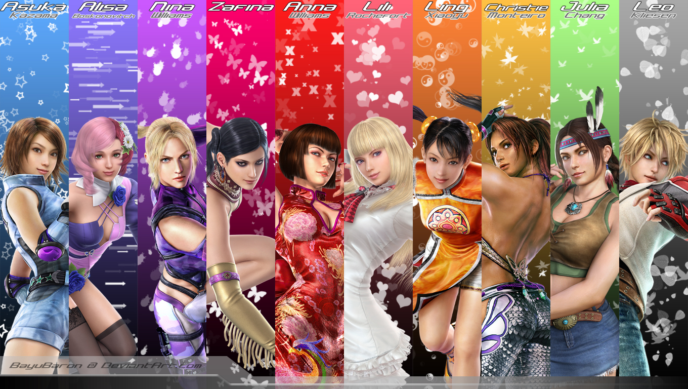 Rainbow Tekken Girls By BayuBaron