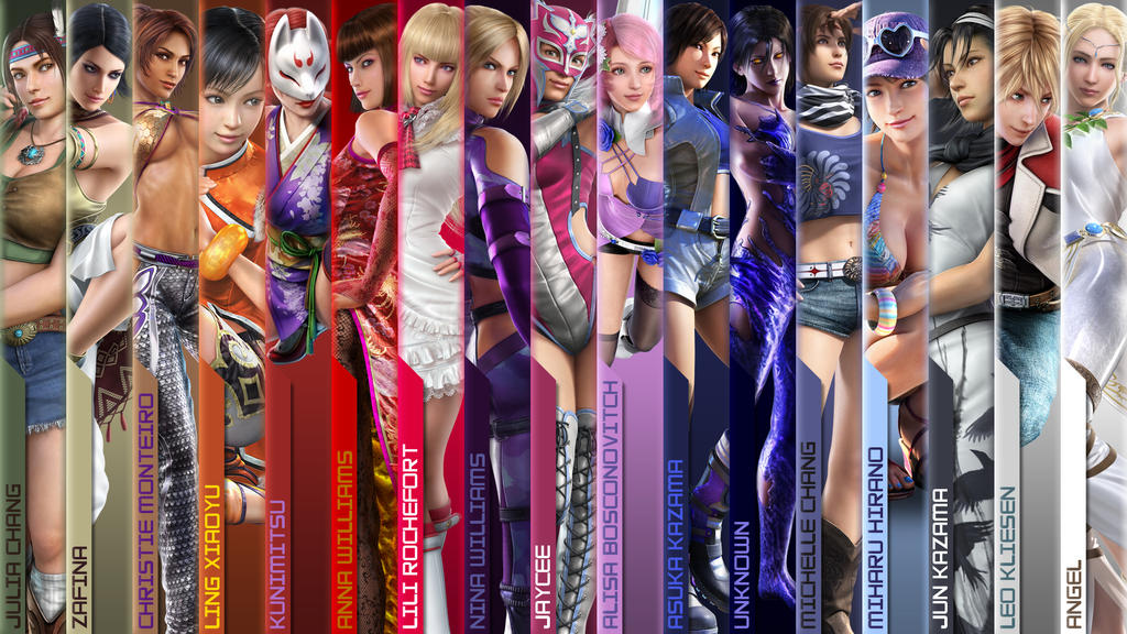 Rainbow Tekken Girls Part 2 By BayuBaron