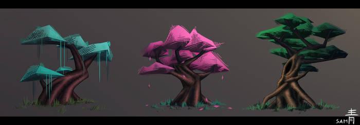 Conceptual Fantasy Trees