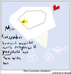 Miss Cucumber Sandwich by ThatDarnFoxCreations