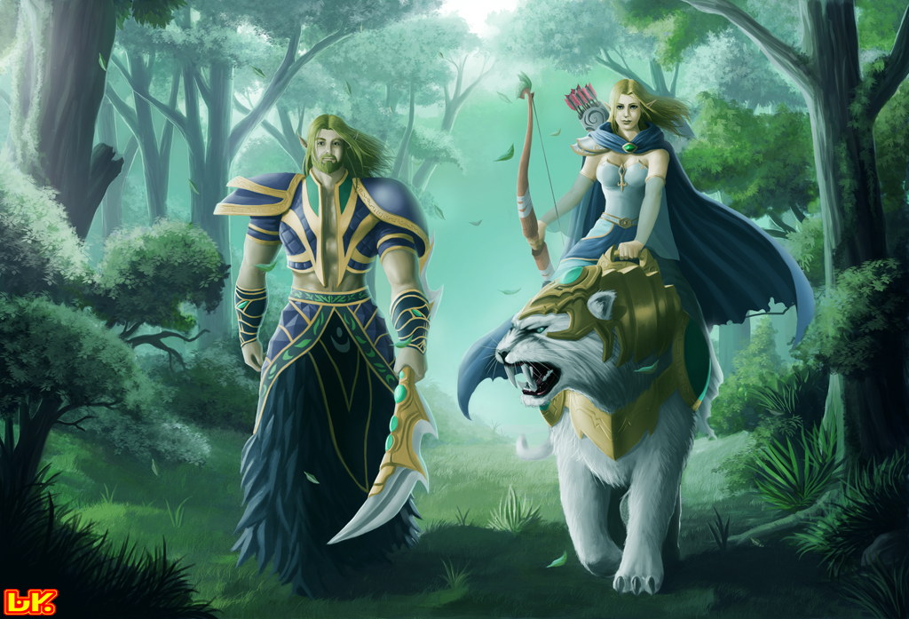 Com: THE NIGHT ELVES by BAKART