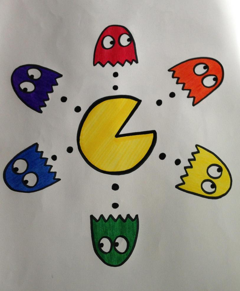 Pac Man Color Wheel By DisneyFreak10