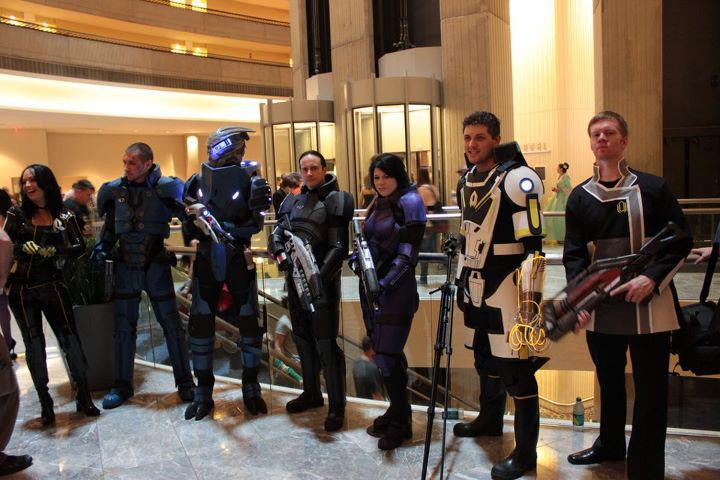 Mass Effect 2 Costume Group by ParadoxJaneDesigns
