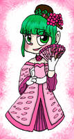 Minty Sakura Ball Gown