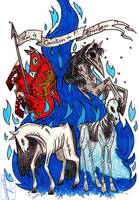Four Horses of the Apocalypse by K-Zlovetch