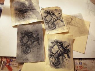 Capricorn gravure by K-Zlovetch