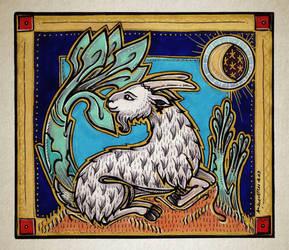 Goat Nap by K-Zlovetch