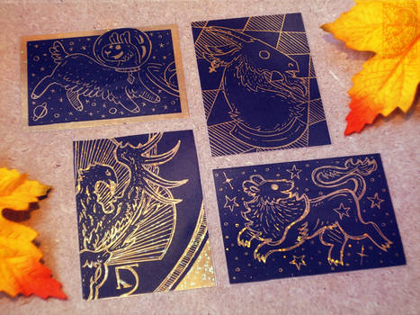 ACEO Scratchboards