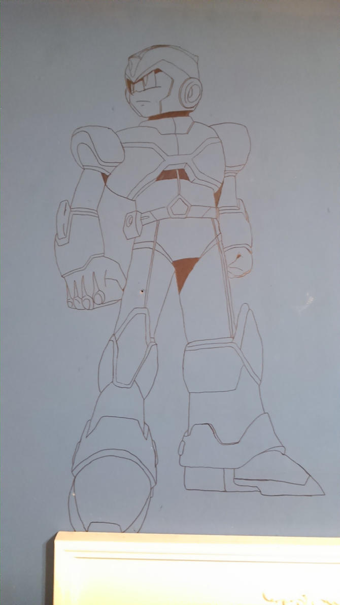 MegamanX on my wall by AlbertoFalken