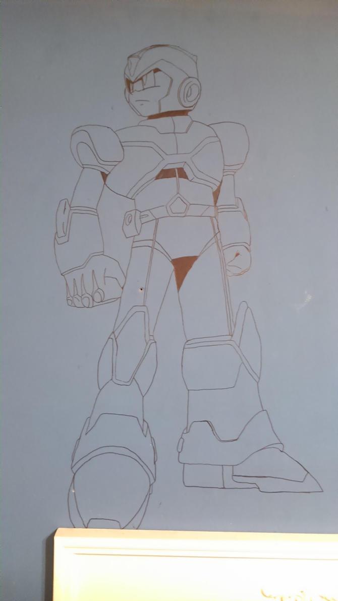 MegamanX on my wall by AlbertoFalken