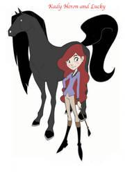 Kady Heron and Lucky by PokemonRangerAllie13