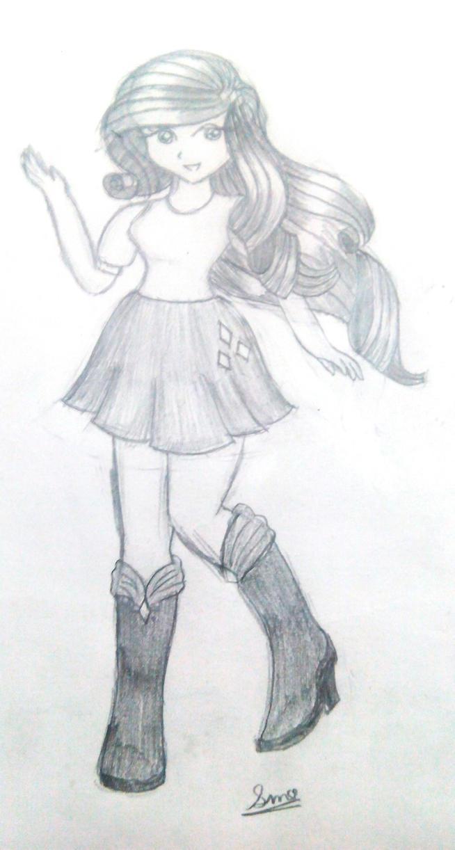 Rarity ( Sketch ) Mlp  by ArtistFluttershy