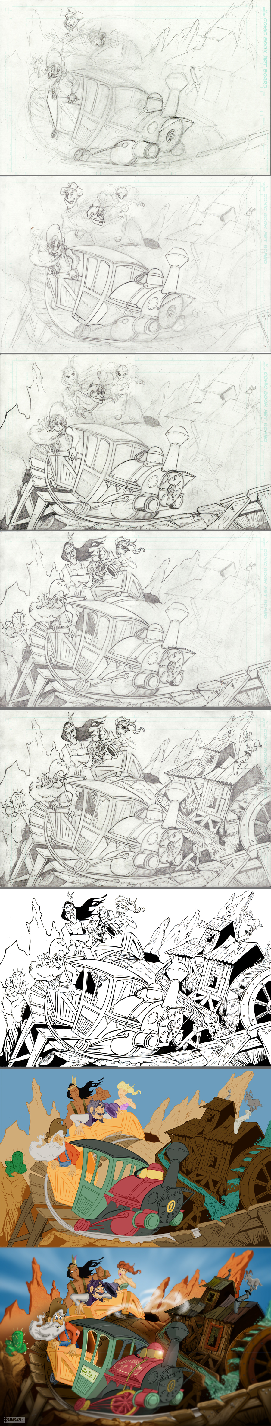 Big Thunder Mountain Process by KileyBeecher on DeviantArt
