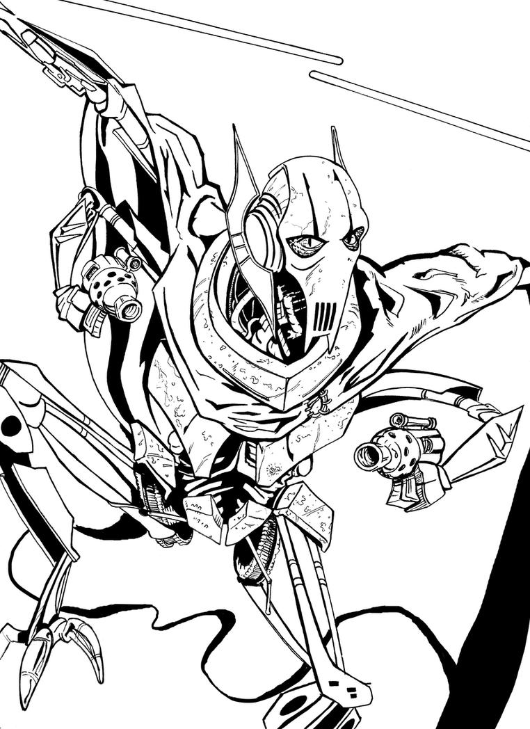 General grievous lego coloring pages