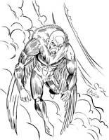 Vulture Ink Sketch by KileyBeecher