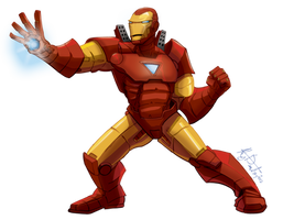 fighting and smiting with repulsor rays! by KileyBeecher