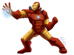 fighting and smiting with repulsor rays!