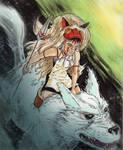 Jauary 15, 2013 - Princess Mononoke by KileyBeecher
