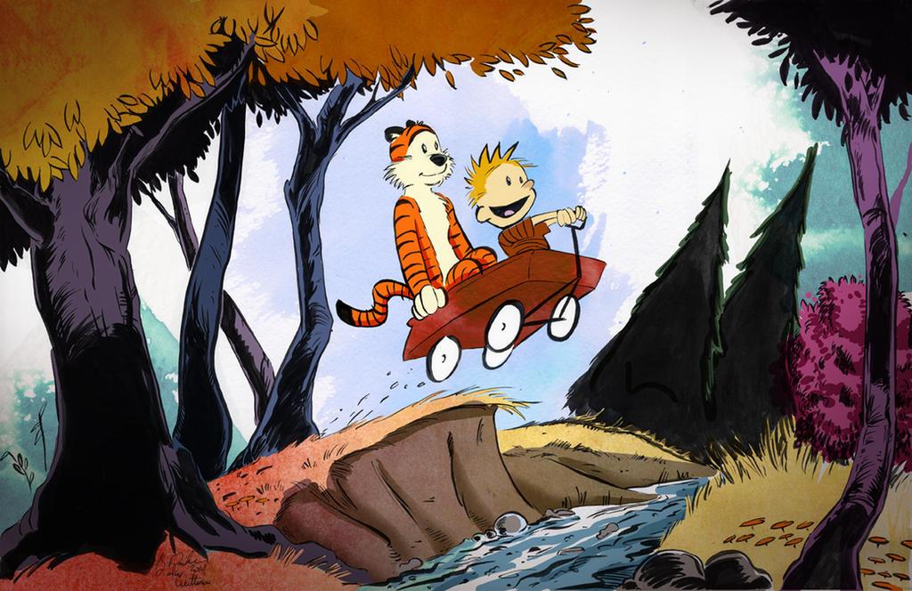 Calvin And Hobbes by KileyBeecher