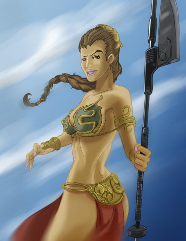 Slave Leia by KileyBeecher
