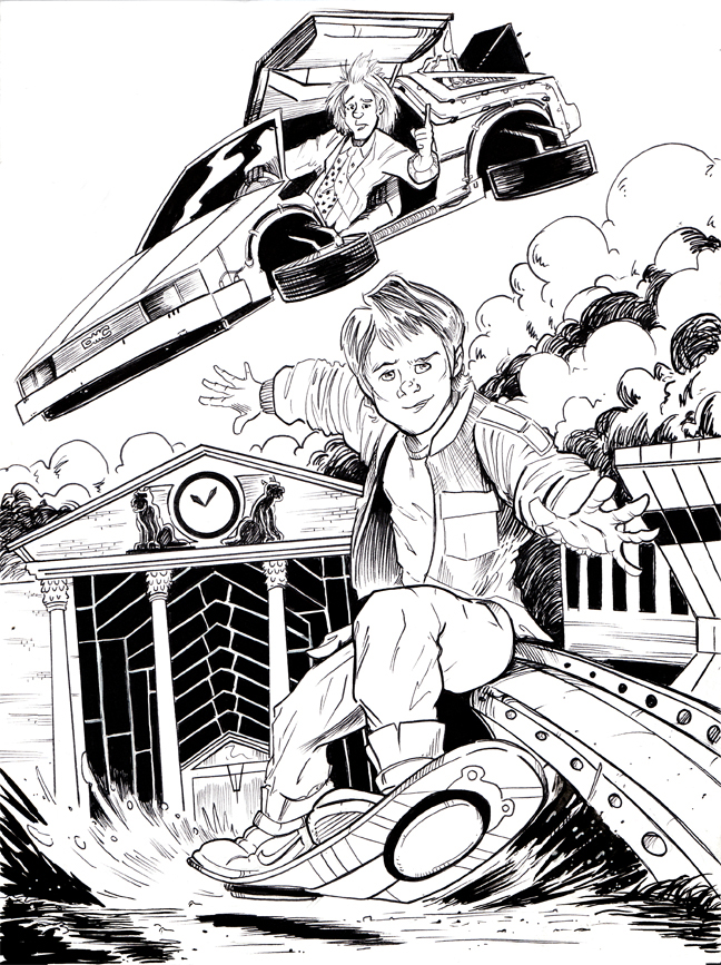 Inktober Day 21 - Back to the Future by KileyBeecher