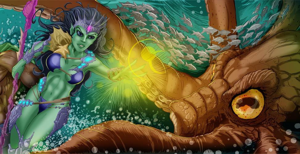 Razing Atlantis Detail 02 by KileyBeecher