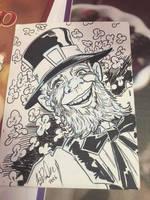 Leprechaun Sketch Card by KileyBeecher