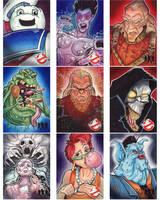 Cryptozoic GhostBusters Sketch Cards set 4 by KileyBeecher