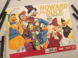 Howard The Duck Sketch Cover by KileyBeecher