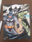 Batman/Godzilla Con Sketch