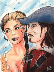 Elizabeth Swan and William Turner by KileyBeecher