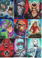 DC Villains Sketch Cards 05 by KileyBeecher
