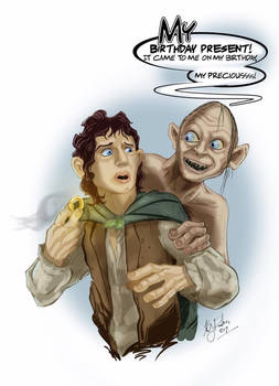 Frodo and Gollum Birthday Wishes