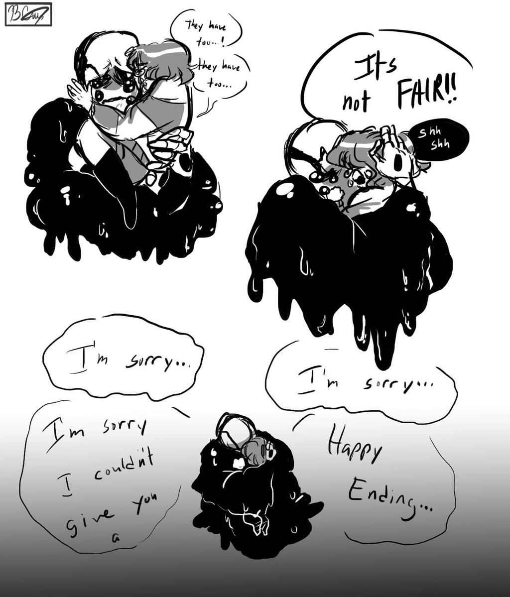 Some angsty gaster and frisk doodle by Muramasa-nii on