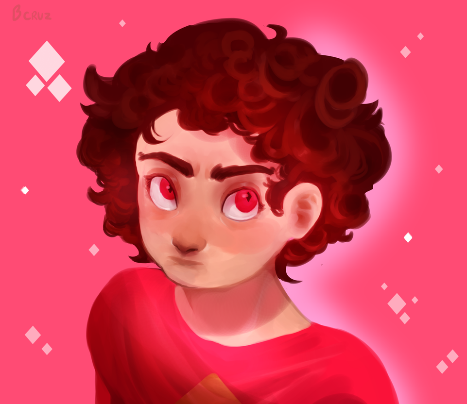 wow actual fanart he looks...cute a bit too cute which i didnt originally intend buttt eh... i wanted to make his hair look a bit like pink diamonds hair