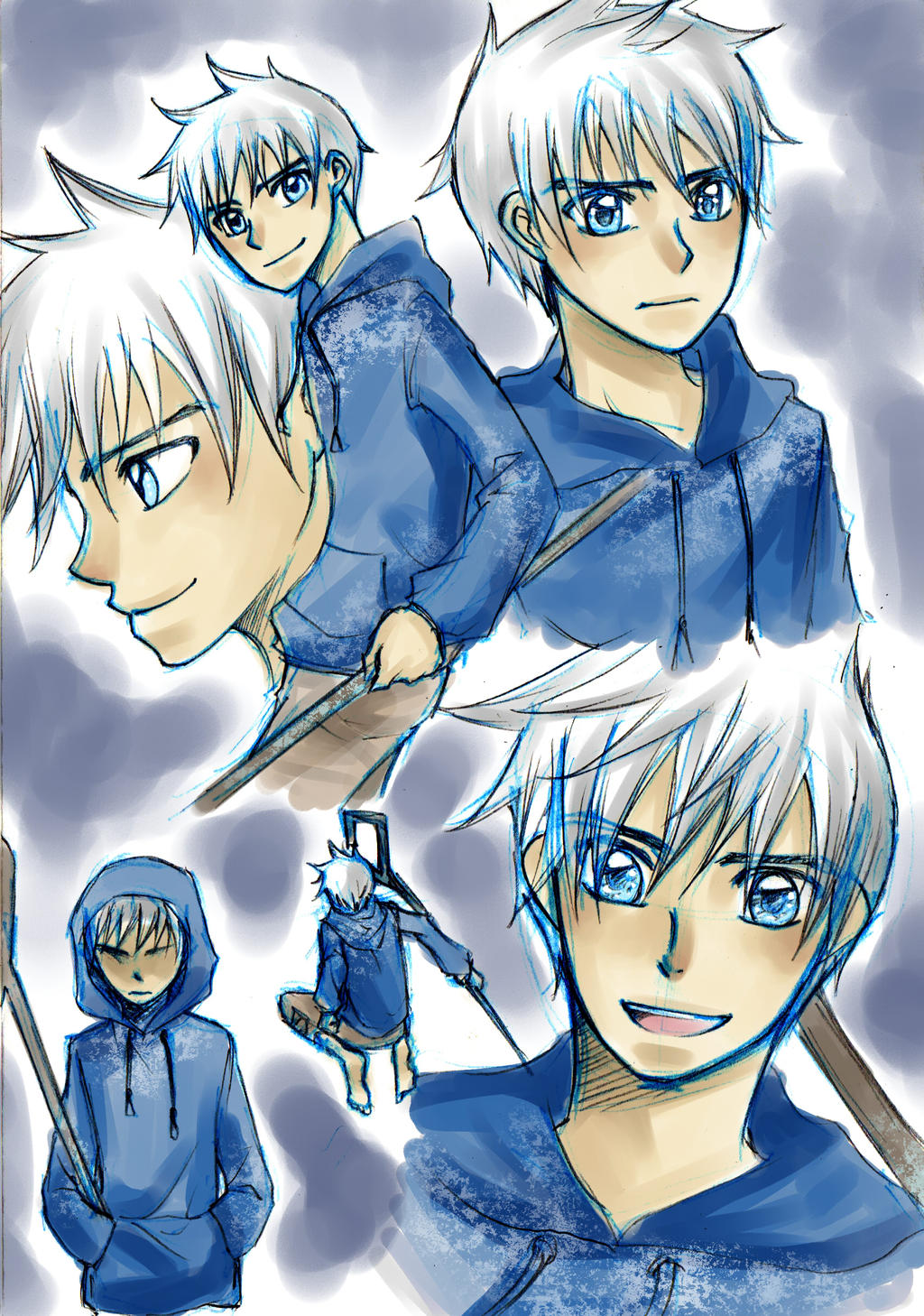 Jack Frost sketches by nayght-tsuki
