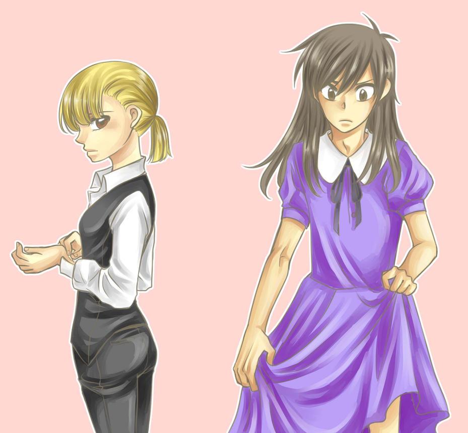 Crossdressing by nayght-tsuki