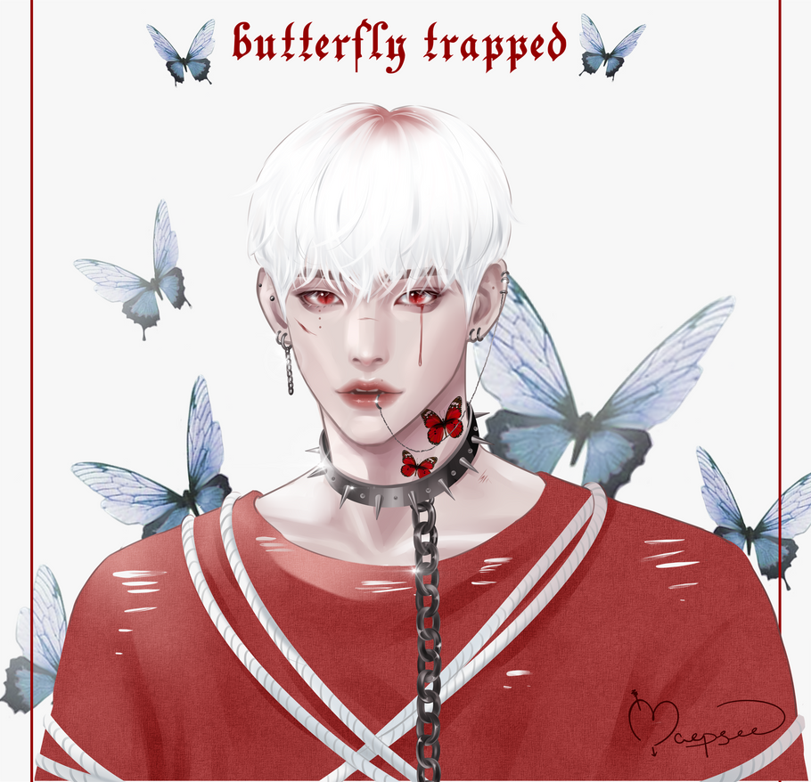 BUTTERFLY TRAPPED portrait adopt [OPEN]