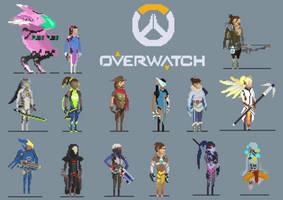 Overwatch Pixel Art by Kyo-Ryuu