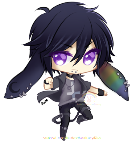 Seto the Rainbow Munchie by RainbowMoonBunny