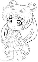 Sailor Moon F2U Line art