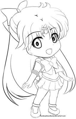 Sailor V F2U Line art