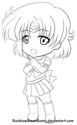Sailor Mercury F2U Line art