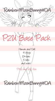 P2U Base Pack (Doll Human Deer feet)