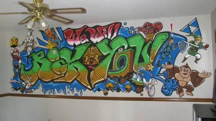 We Will Rock You (SSB) Mural by matrgarr