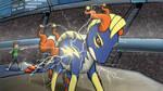 Mega Electruxo use Thunder!