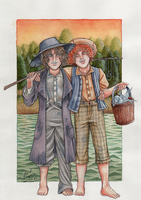 Tom and Huck by Lord-Giovanni