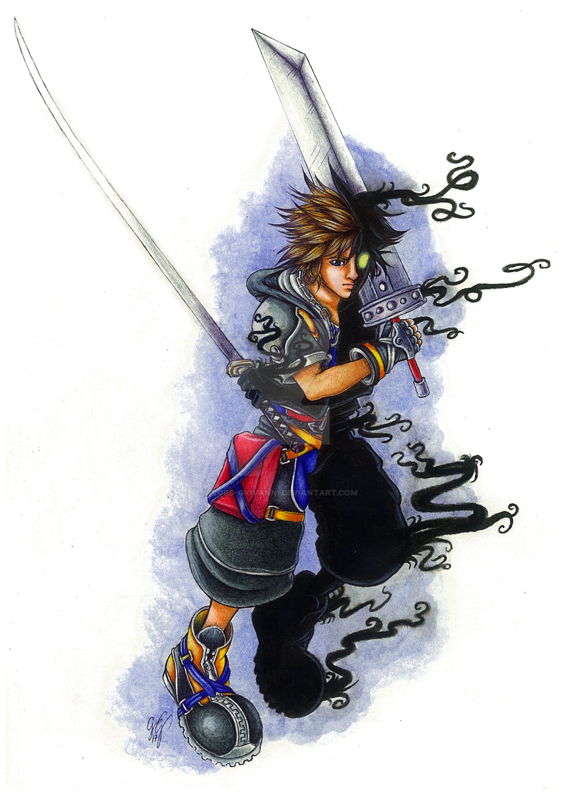 Half-Heartless Sora by Lord-Giovanni