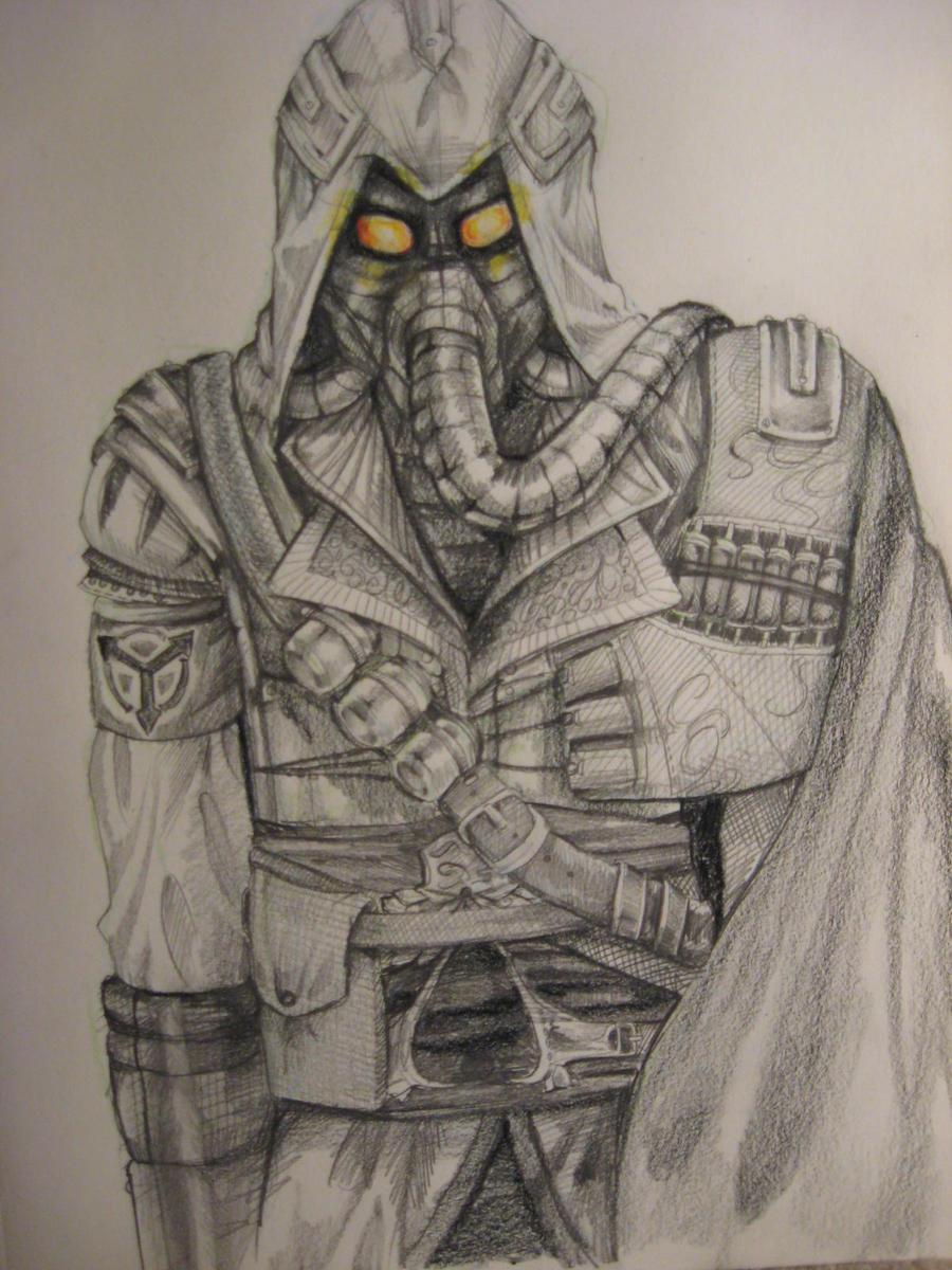 Ezio Helghast by Samoubica