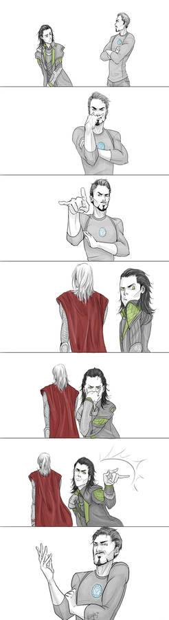 Loki and Tony's Face Off